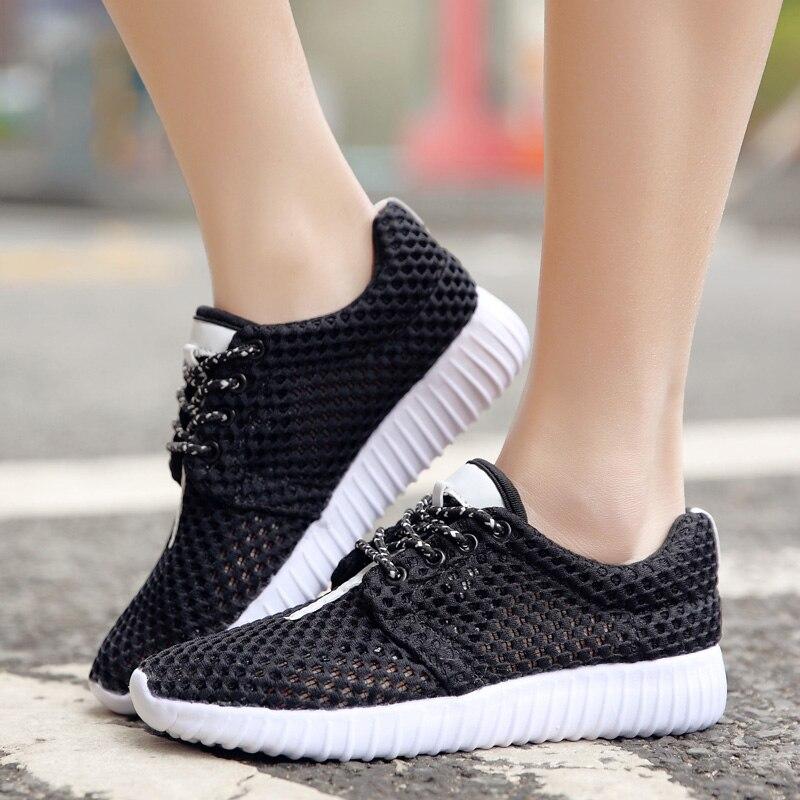 Zapatos Chaussures Respirant Air Marche Mode q1611 De q1611 En Plein White Q1611 Black Femmes Feminino Femme Pink Sapato Mujer Appartements Espadrilles rqOr4xw