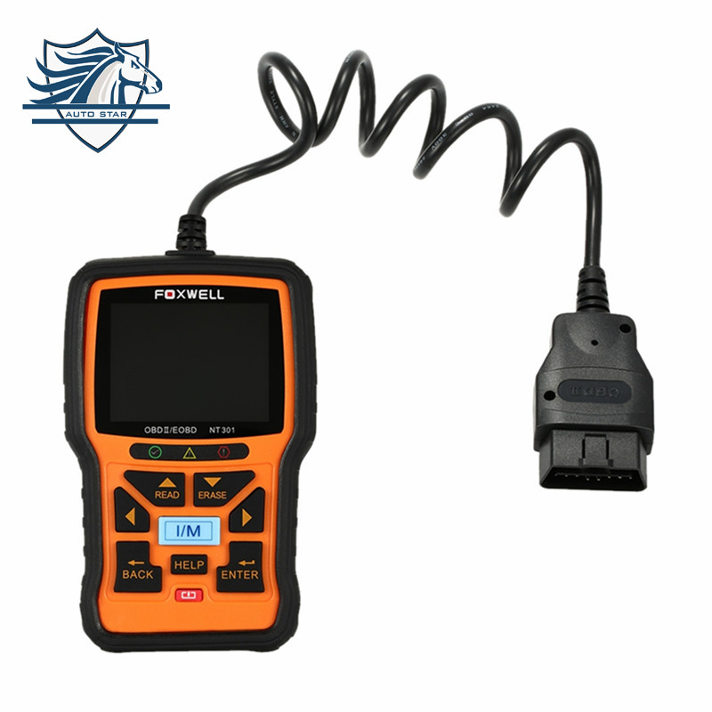 Hot Sale FOXWELL NT301 OBD OBDII Car Code Reader Diagnostic Scan Tool Multi-system Scanner for all OBD2 Compliant Cars hitag2 transponders programmer hot sale diagnostic tool auto code reader fault reader car accessories free shipping