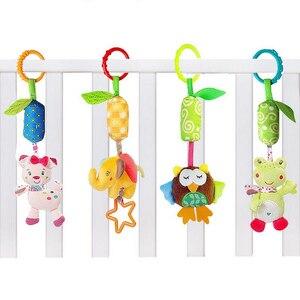 Image 3 - 赤ちゃん動物ソフトはおもちゃ幼児 0 12 月ベッドベビーベッドベビーカー音楽釣鐘キッズぬいぐるみ携帯ベビーぬいぐるみ игрушки
