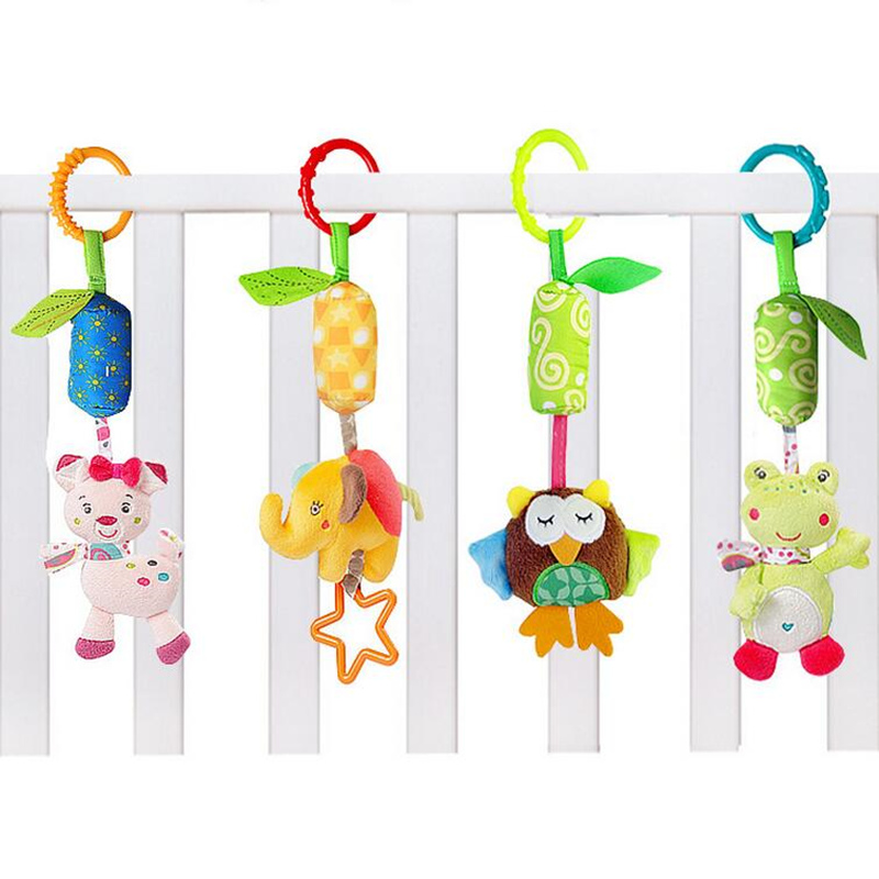 Image 3 - Baby Animal Soft Rattles Toys for baby 0 12 month Bed Crib Stroller Music Hanging Bell kids Stuffed Toys Mobile Baby Plush Toy-in Baby Rattles & Mobiles from Toys & Hobbies
