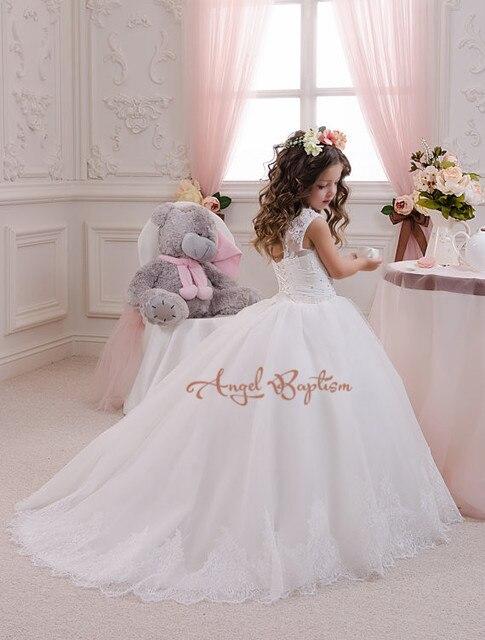 Neue Spitze Blumenmädchen Kleider für besondere anlässe Weiß ...