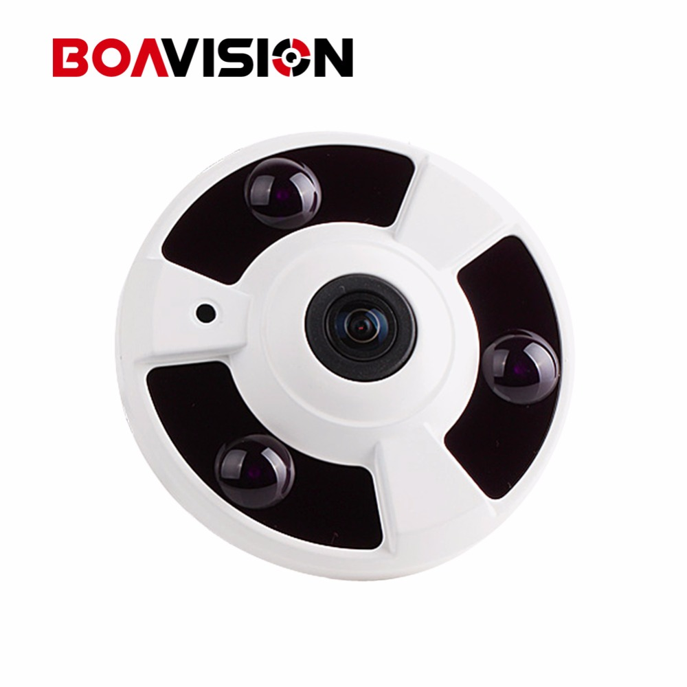 1080P IP Camera (POE) Onvif Fisheye Panorama 5MP Lens IR Night Vision HD Security CCTV Camera 2MP 360 Degree View P2P XMEye 1 to 4 video cutting panorama ir ip camera poe 3mp 360 degrees view fisheye cctv camera support onvif p2p cloud ie view