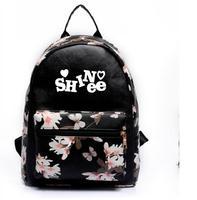 new kpop Leisure pu backpack shinee jong hyun The same paragraph Girls Mini models Korean version College Wind school bag