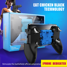 PUBG Mobile Wireless Gamepad Joystick Game Holder Bluetooth Controller With Cooling Fan For iPhone 2-in-1 Handle And Bracket