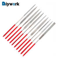 DIYWORK 10Pcs Mini Needle File Set Diamond Coated MTS013 140mm for Ceramic Glass Gem Stone Hobbies and Crafts