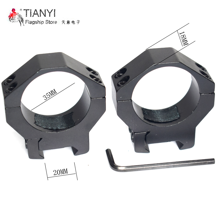 for Flashlight Tactical Barrel 35mm Low QD Scope Torch Laser Sight Ring Mount 20mm RIS Rail Airsoft Hunting Rifle Gun Scope torch aluminum alloy gun mount 17 30mm ring flashlight rifle scope laser mount 20mm rail scope mount gun hunting accessories