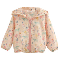 Baby Girls Hooded Flower Print Jacket Spring Autumn Outerwear&Coats Kids Children Clothes Clothing for Girl
