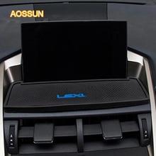 Aosrrun для Lexus изменение NX200 NX300 интерьеры измененных специальные противоскользящие площадку навигации Телефон площадку силикагеля автомобильные аксессуары