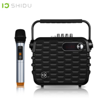 SHIDU 30W Portable Voice Amplifier Bluetooth ICloud Control Karaoke Audio Speaker With VHF Hi-Fi Wireless Microphone For Speech shidu ultra wireless portable uhf mini audio speaker usb lautsprecher voice amplifier for teachers tourrist yoga instructor s615