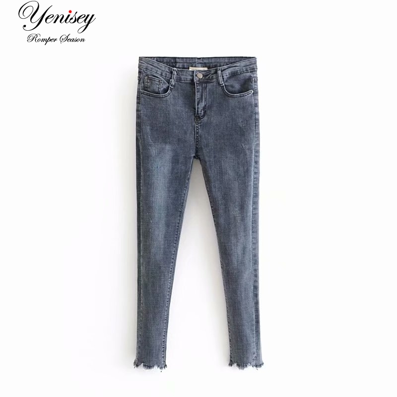 Bottoms Jeans Holiday Wind 58-6276 European And American Fashion Dogs Gnawing Worn Elastic Jeans Good For Energy And The Spleen