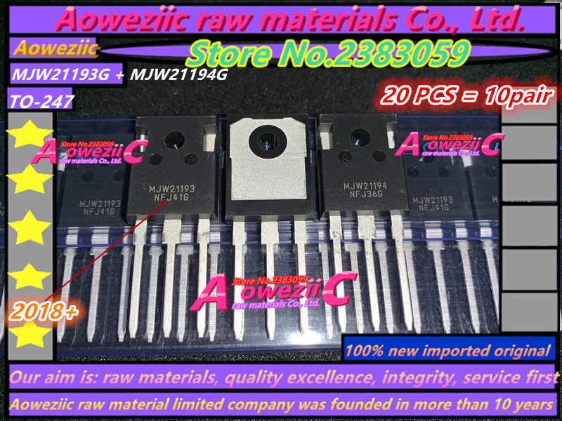 Aoweziic 2018 100 new imported original MJW21194G MJW21193G MJW21194G MJW21193 MJW21194 TO 247 Power amplifier transistor