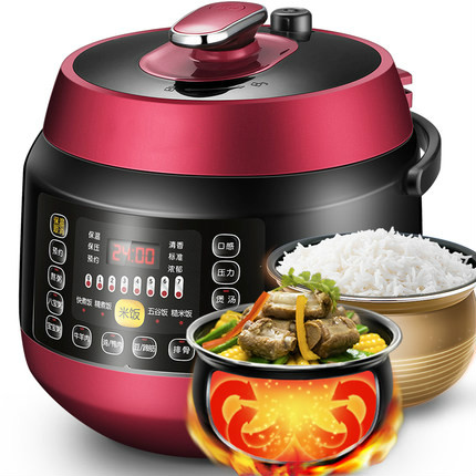 Electric Pressure Cookers pressure cooker intelligent double-bile rice 5L 3-4 people. 2l 3l 4l 5l 6l latest technology gold rice cooker pot aluminum alloy tank for intelligent rice cookers