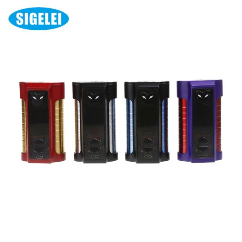 10 pcs/lot elektronik sigara Original Sigelei MT TC 220 W boîte Mod 510 fil MT 220 W Mod sans 18650 batterie VS Smok Alien Mod