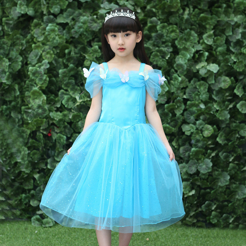 Cinderella Dress New Pattern European Dance Performance Birthday Girl Princess Dress Kids Clothing Mesh Party