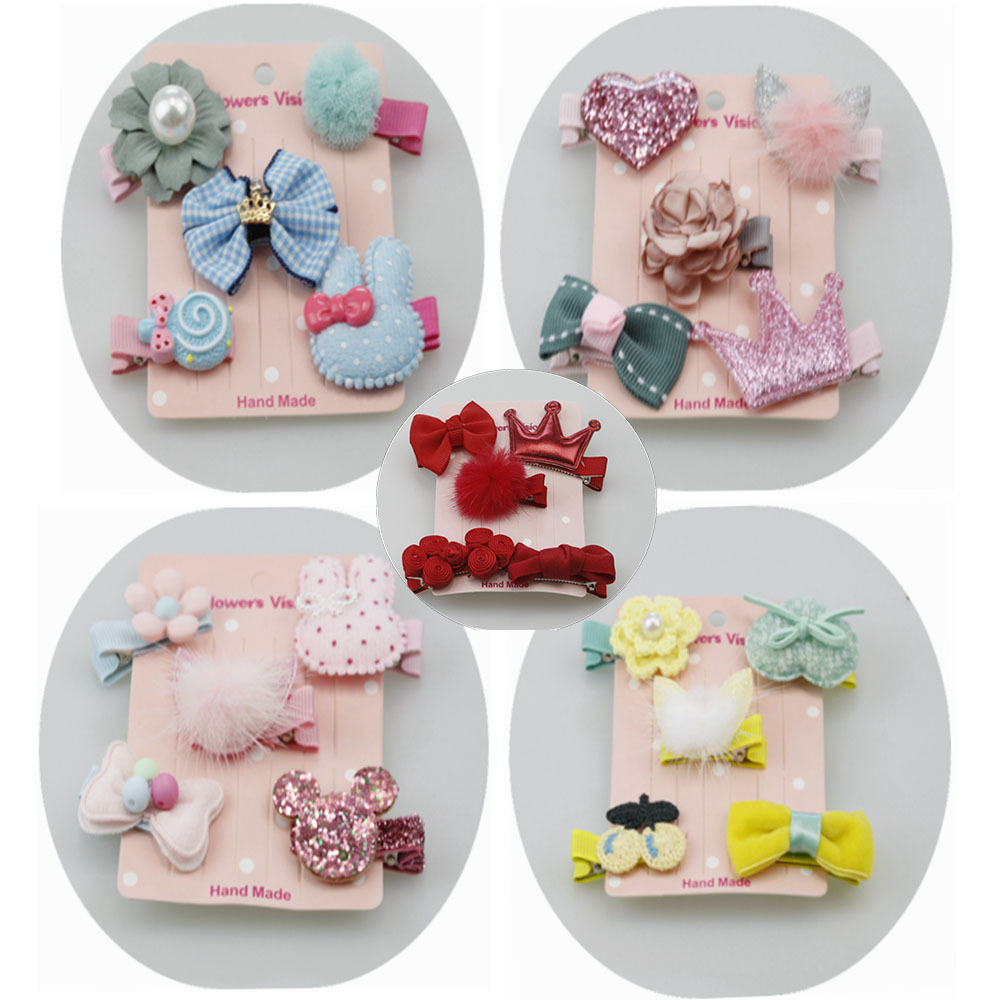 2017 Korean hair accessories girls crown hair bow heaband clips cute children hairband h ...