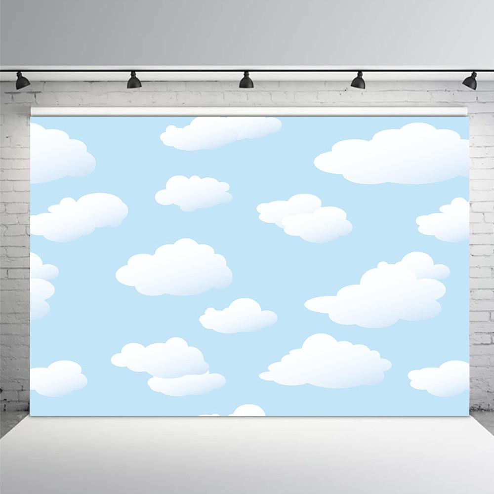 MEHOFOTO Photography Backdrop cartoon blue sky white cloud newborn baby background props photocall photobooth Photo studio
