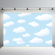 MEHOFOTO Photography Backdrop cartoon blue sky white cloud newborn baby background props photocall photobooth Photo studio paper cloud colour balloon blue sky bird photo studio background vinyl cloth high quality computer printed birthday backdrop