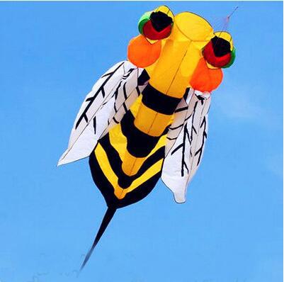 O envio gratuito de alta qualidade 3 m abelha pipa com alça macia linha ao ar livre voando brinquedo grande pipa weifang kite factory roda polvo