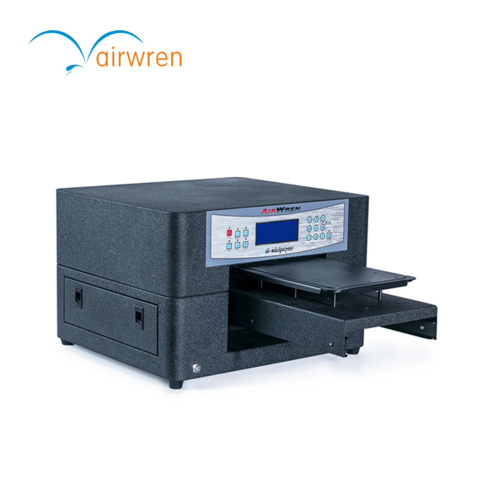 Digital Socks Printing Machine Cheapest To Print On T Shirt With White Ink Haiwn-t400 Dtg Printer Mini