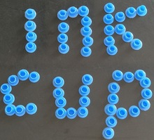 2000Pcs Plastic 6.7mm Inner Size BLUE NO HOLDER FLAT BASE TATTOO INK CAPS CUPS Small size