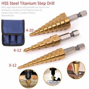 מקדח קונוס בקטרים שונים לעץ ברזל וגבס – סט 3 מקדחים