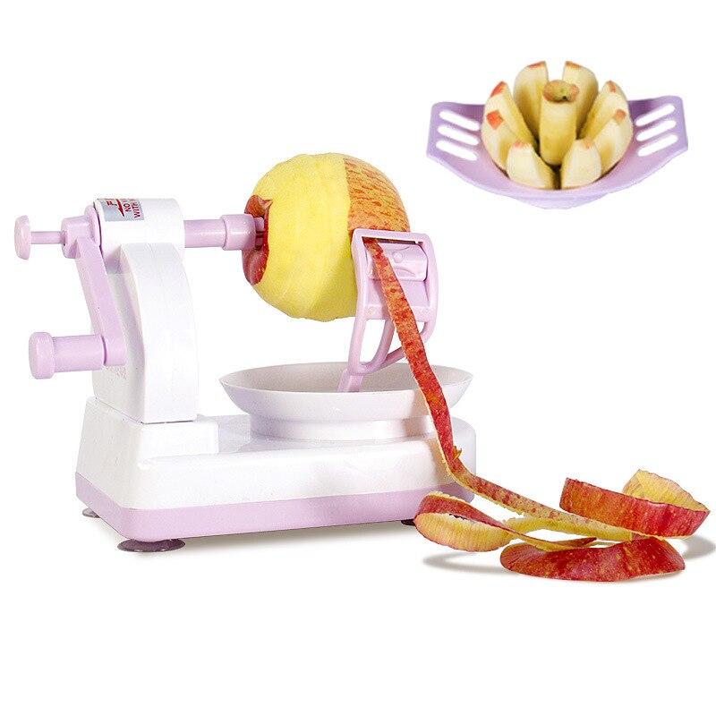 Kitchen Multifunctional Apple Peeler Hand-cut Apple Two-piece Set Purple Kitchen Appliances Plastic Fruit Cover Machine