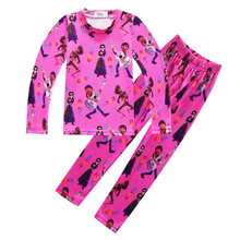 Dreaming around the world coco music tour autumn and winter childrens clothing home service girls pajamas long-sleeved suit