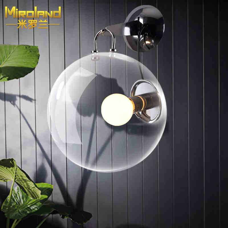 ФОТО 2016 new The bubble wall lamps modern simple European style led glass creative bedroom study living room lamps