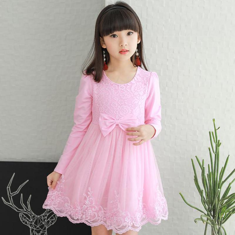 Baby Girls Princess Dress Kids Long Sleeve Autumn Dresses Toddler Girl Children Fashion Clothing Robe Teeange Girls School Wear new 2017 baby girls ruffle sweater dress kids long sleeve princess party christmas dresses autumn toddler girl children clothes