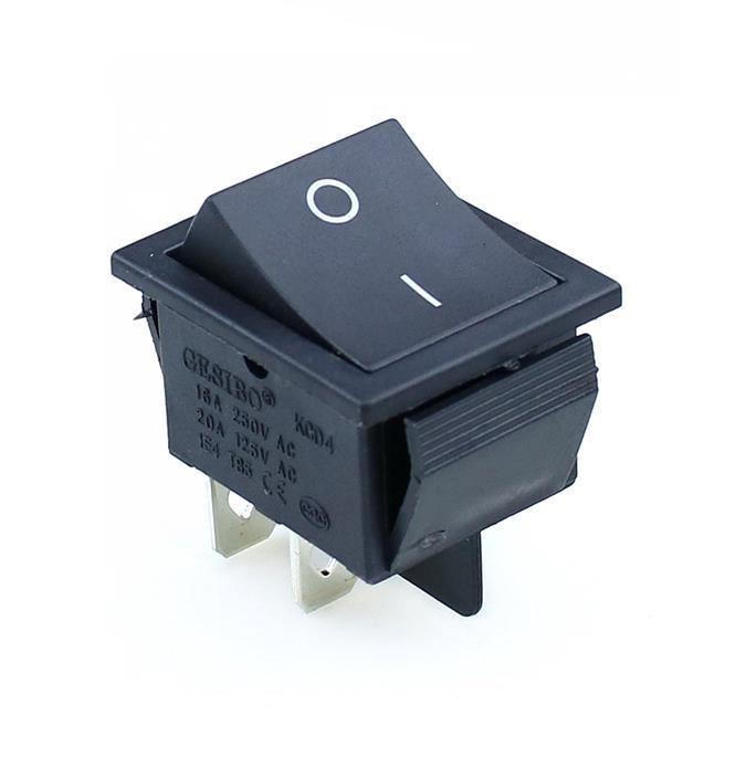 KCD4 кулисный переключатель ВКЛ-ВЫКЛ 2 положения 4 контакта/6 контактов электрооборудование с светильник выключатель питания 16A 250VAC/20A 125VAC - Цвет: black