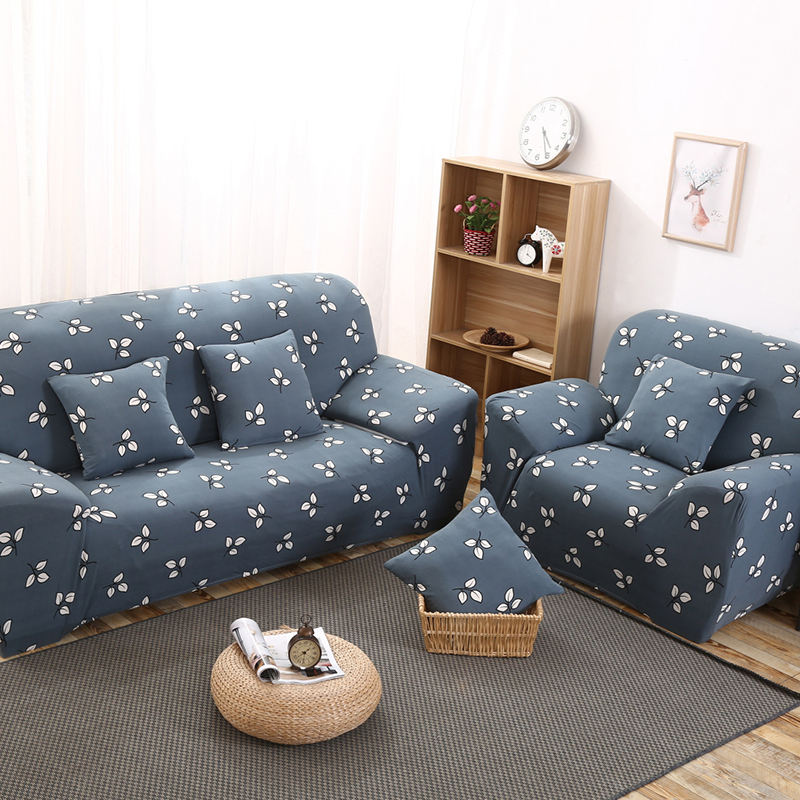 Elastic Sofa Covers Leaves Printed Couch Seat Slipcovers Protector for Living Room Office Home Furniture Decoration Mother Gifts