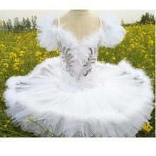 Профессиональные Балетные балетные пачки для профессионалов и для детей, Детский белый балетный костюм Лебединое озеро, детские танцевальные юбки-пачки с перьями для девочек