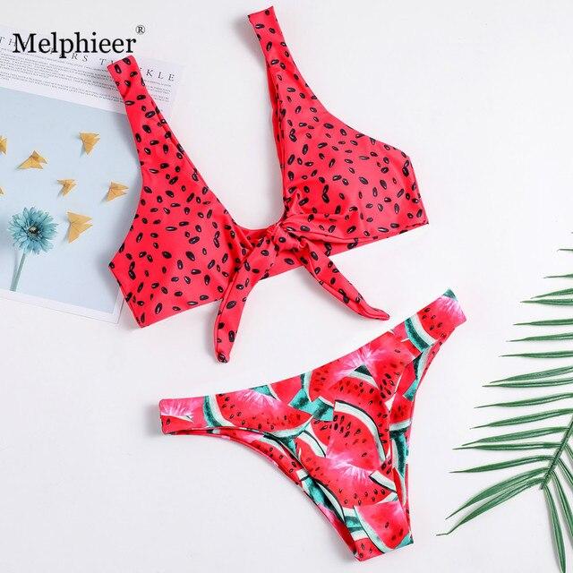 Бикини с завязкой спереди ванный комплект летние купальники в тропическом стиле для женщин колодки Купальник Винтаж бразильский Biquini Maillot De Bain наряды красный