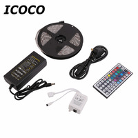 ICOCO Super Heldere 300 Led 5 M 5050SMD RGB Flexibele Waterdichte Licht Strip Lamp Kit Met 44 Keys Afstandsbediening En 5A Power IP68