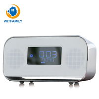 USB Fast Charge LED Digital Display Multifunction Desktop Bluetooth FM Radio Alarm Clock Stereo Wireless Mini