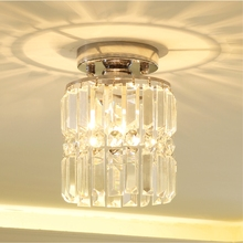 Modern crystal chandelier simple round led corridor lamps fashion personality entrance hallway Light fixture