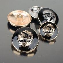 Silver/Gold/Gunblack Copper Metal Button Retro Jeans Coat Jacket Clothes Decorative Buckle Accessories 50 pcs/lot