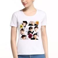 MOE CERF New Arrival Fashion Kpop BTS T Shirt Women Summer Bangtan Boys Kpop Tee Top