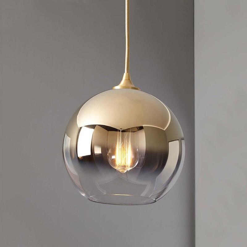 Современный Диксон стиль зеркало стеклянный шар подвесные светильники медь/серебро/золото Глобус лампа Современная Кухня Освещение свети