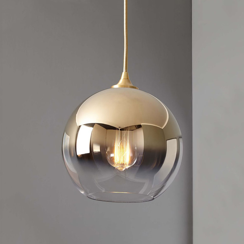 Modern Dixon Style Mirror Glass Ball Pendant Lights Copper/Silver/Gold Globe Lamp Modern Kitchen Lighting Fixtures 1pieceModern Dixon Style Mirror Glass Ball Pendant Lights Copper/Silver/Gold Globe Lamp Modern Kitchen Lighting Fixtures 1piece