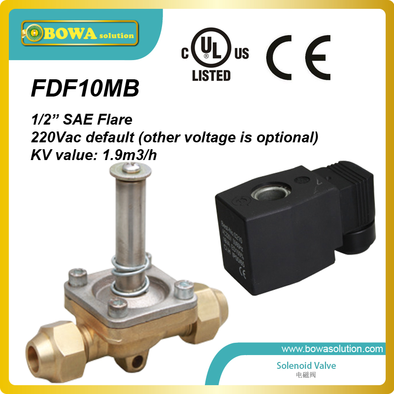 excellent quality 1/2   Air, Oil and Water Solenoid Valves with CE and UL approval thermo operated water valves can be used in food processing equipments biomass boilers and hydraulic systems