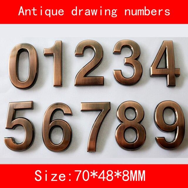 Numeri Civici In Plastica.1 Pz 0 9 Disegno Antico Numeri Civici 70 48 8mm Plastica Abs Hotel