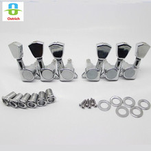 3L 3R 6pcs Chrom Guitar String Tuning Pegs Tuners Machine Heads Guitar Parts