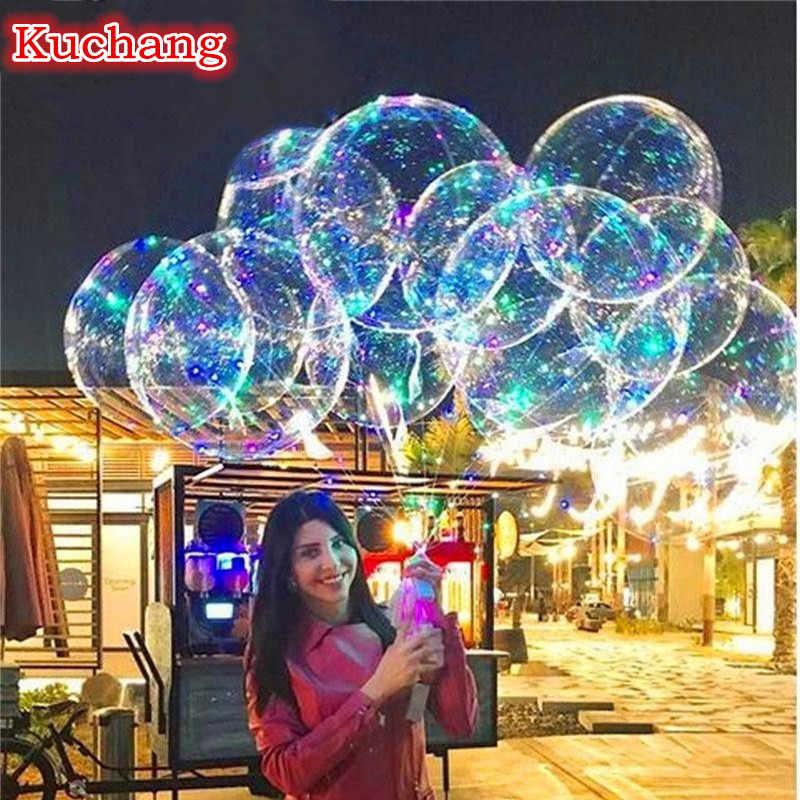 10 компл./лот 18 24 36 дюйма световой светодио дный шар 3 м светодио дный воздушный шар строка огни пузырь Гелий воздушные шары для свадьбы, вечеринки украшения