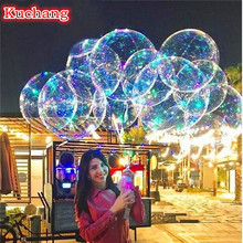 10set/lot 18 24 36inch Luminous Led Balloon 3M LED Air String Lights Bubble Helium Balloons Wedding Party Decoration