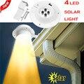 Новый светодиодный водосточный желоб на солнечных батареях для наружного использования/сада/двора/стены/забора/лампы без электричества  т...