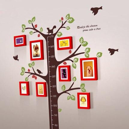 Children Wooden Photo Frame Set Wall Hanging Photo Frame Tree Living ...