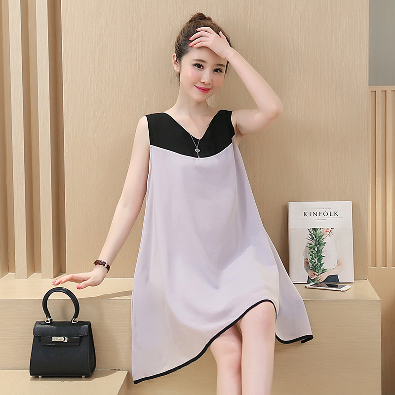 53b57ec2531c4 Casual Fashion Splice Sleeveless Chiffon Maternity Dresses for Pregnant  Women Summer Maternity Clothes for Pregnancy Dress B16-in Dresses from  Mother & Kids ...