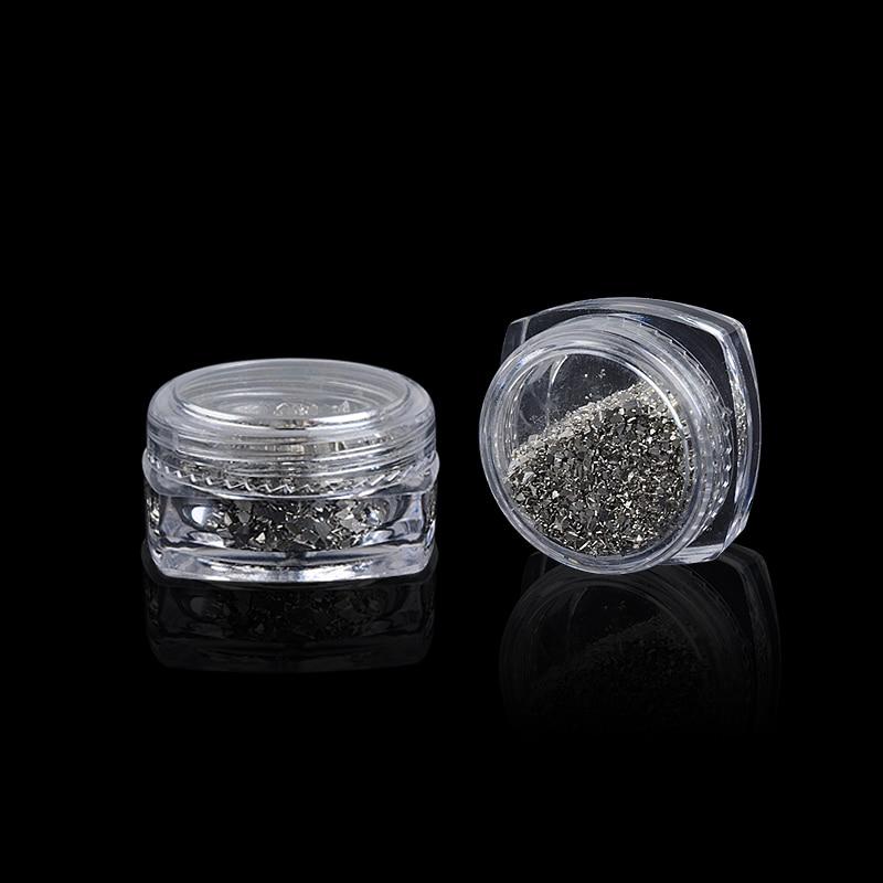 Жаңа 5g / box күміс Irregular Broken Glass Flake Nail Art - Маникюр - фото 2
