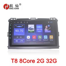 HANGXIAN 9″ octa 8core car radio for Toyota Prado 120 2004-2009 Android 8.1 car dvd player with 2G RAM,32G Rom,steering wheel